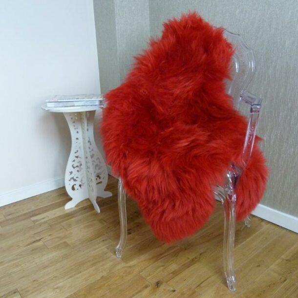 Sheepskin Rug UK Red