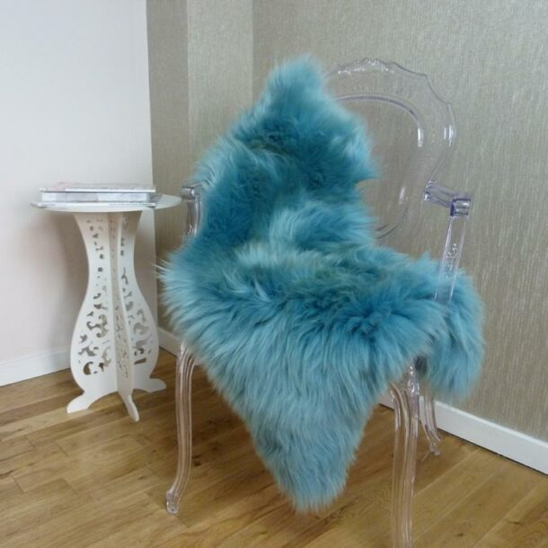 Sheepskin Rug UK Aquamarine