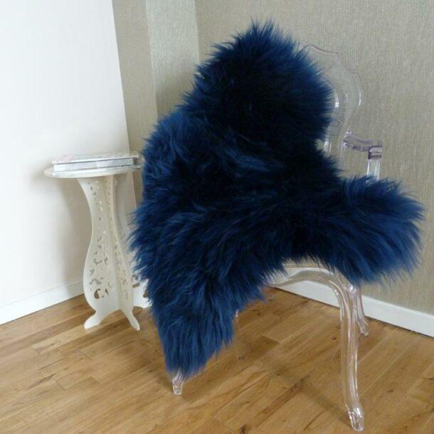 Sheepskin Rug UK Navy Blue