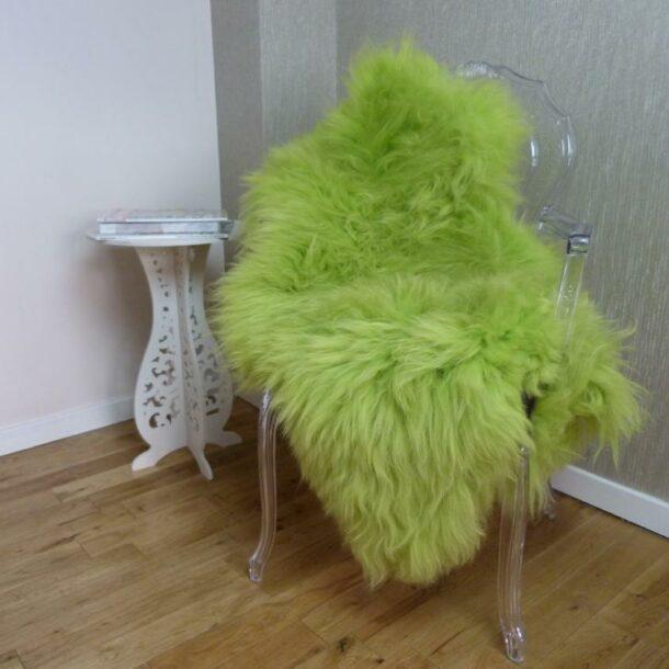 Sheepskin Rug UK Green Apple