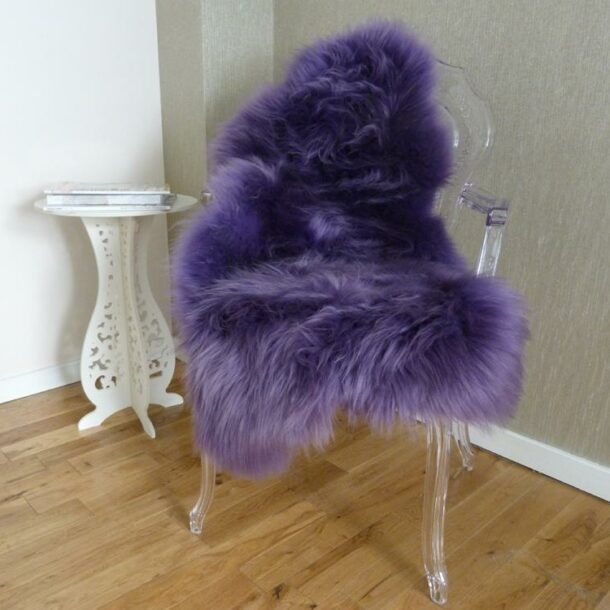 Sheepskin Rug UK Purple