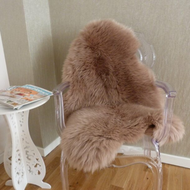 Sheepskin Rug Beige Single MED