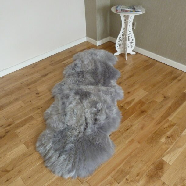 Sheepskin Rug Double Steel Grey