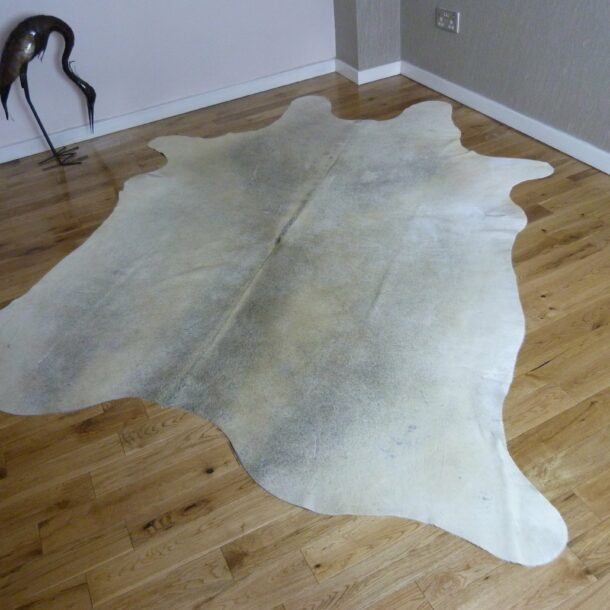 Cowhide Rug Grey and White C936