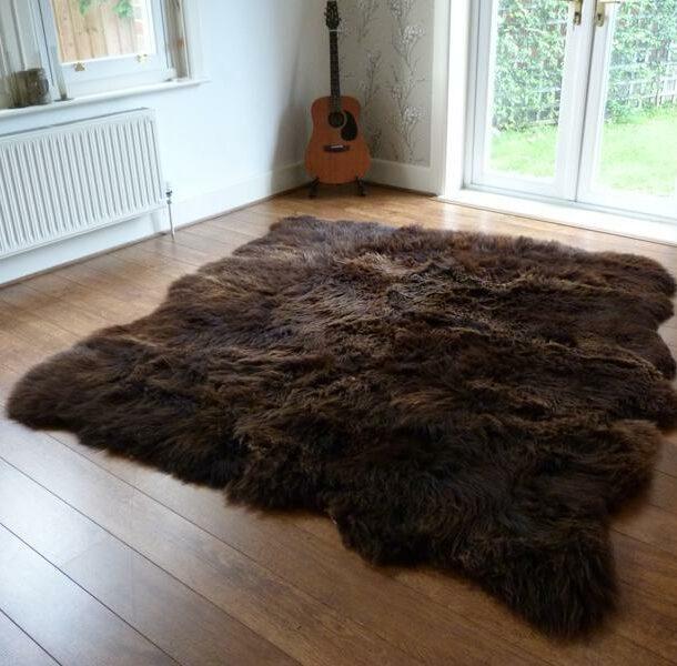 Rare Breed Sheepskin Rug 8 Skin Brown