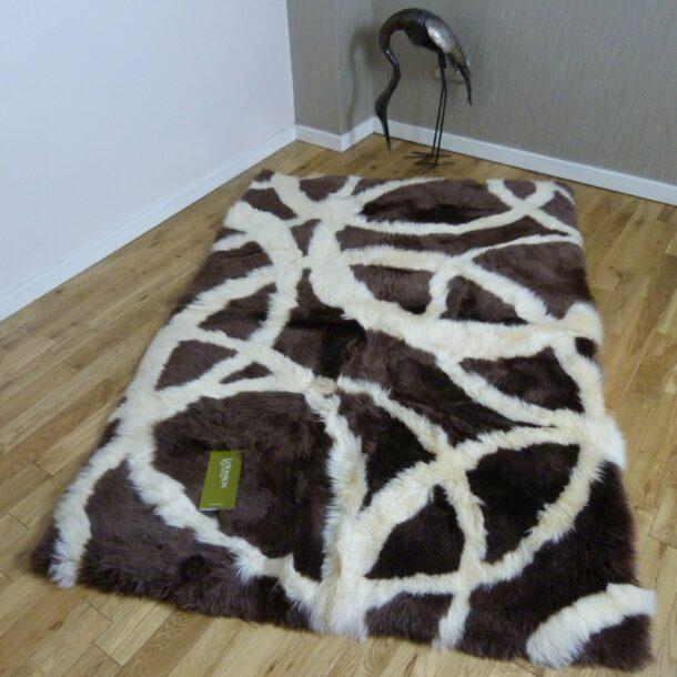 Rectangular Sheepskin Rug Traverse