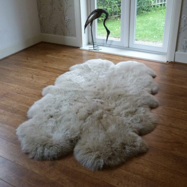 Sheepskin Rug Quad Stone
