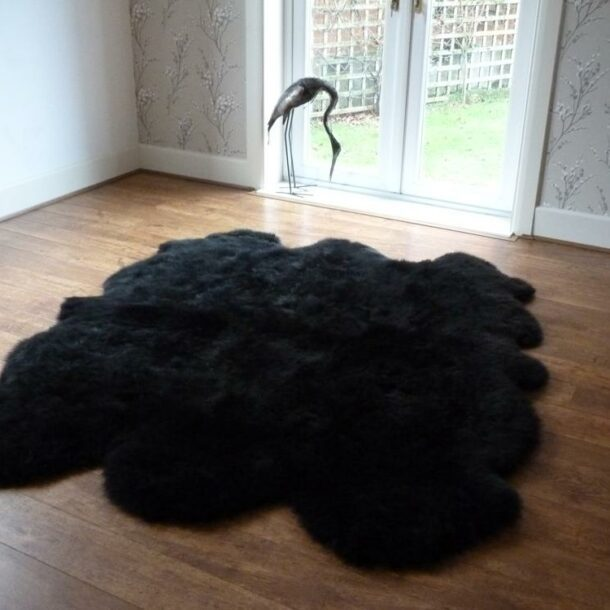 Sheepskin Rug Black Sexto