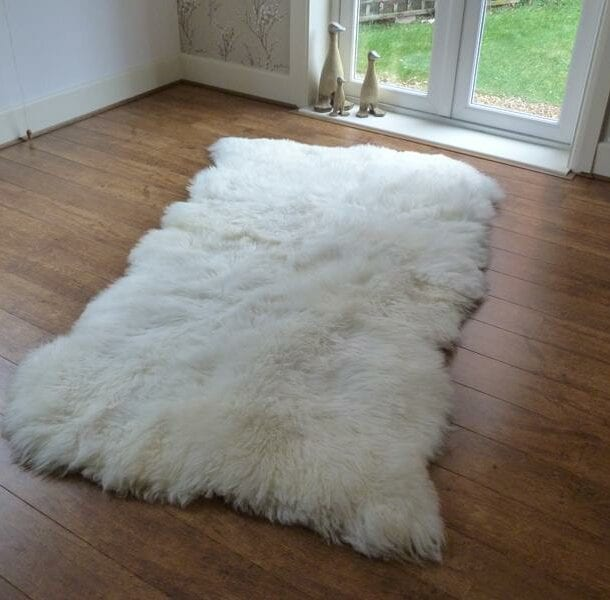 British Sheepskin Rug Natural 4 Skin