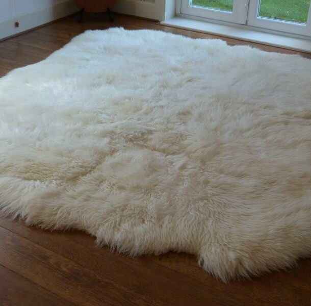 British Sheepskin Rug Natural 8 Skin