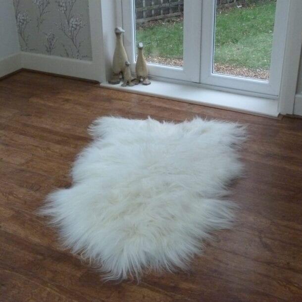 Icelandic Sheepskin Rug Ivory SML