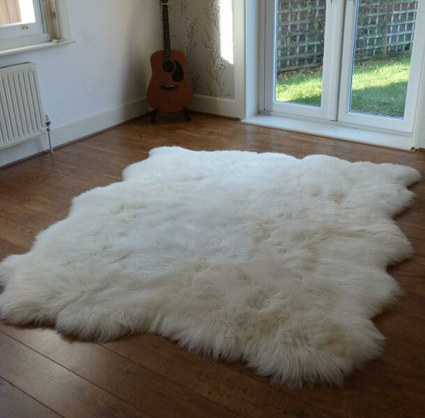 British Sheepskin Rug Natural 6 Skin