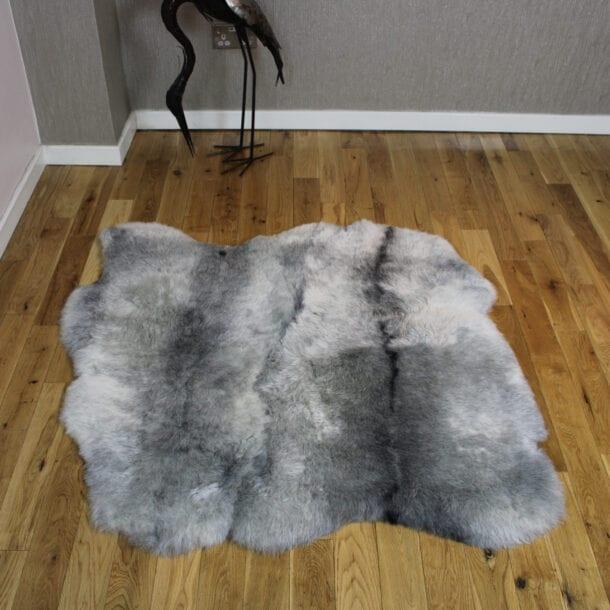 Icelandic Sheepskin Rug 2 Skin Grey Shorn ISNG2S02