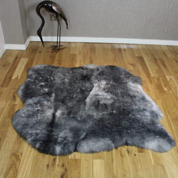 Icelandic Sheepskin Rug 2 Skin Grey Shorn ISNG2S04