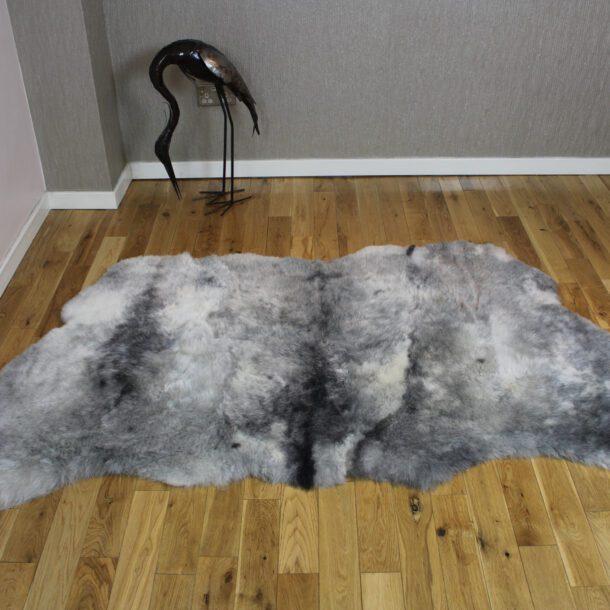 Natural Grey Icelandic Sheepskin Rug Shorn 3 Skin
