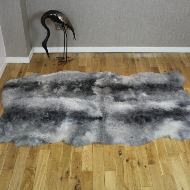 Natural Grey Icelandic Sheepskin 4 Skin Grey Shorn ISNG4S10
