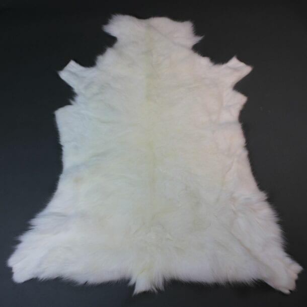 White Reindeer Hide Rug WR208