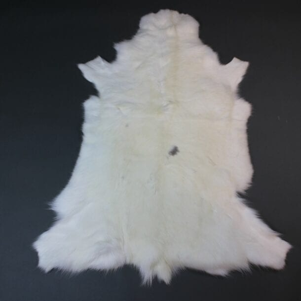 White Reindeer Hide Rug WR210