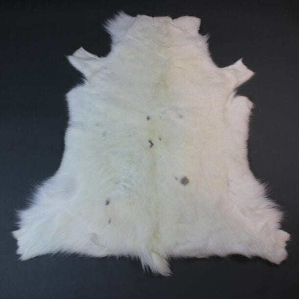 White Reindeer Hide Rug WR211