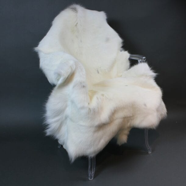 White Reindeer Hide Rug WR212