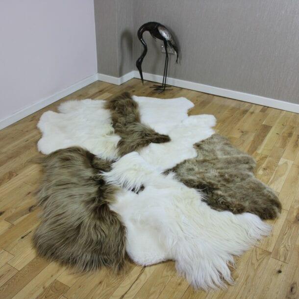 Mixed Sheepskin Designer Rug SM16