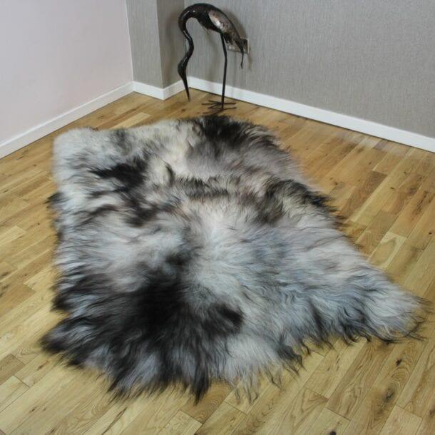 Natural Grey Icelandic Sheepskin 4 Skin Grey ING4S46